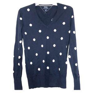 Tommy Hilfiger Navy Polka Dot Sweater